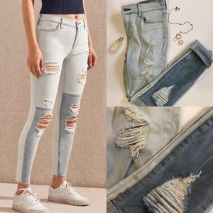 SALE‼️ PACSUN JEANS COLORBLOCK AND RIPPED